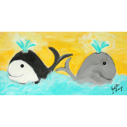 Judith Raye Paintings LLC Two Whales by Judith Raye Painting Print