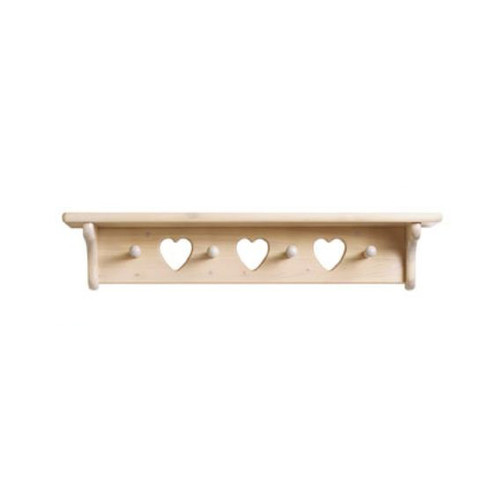 Little Colorado Heart Cutout Wall Mounted Coat Rack by Little Colorado