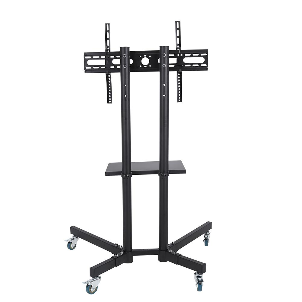 Mobile TV Cart Adjustable Stand Mount for 32-65 Inch LCD/LED Flat Panel Screen with Wheels