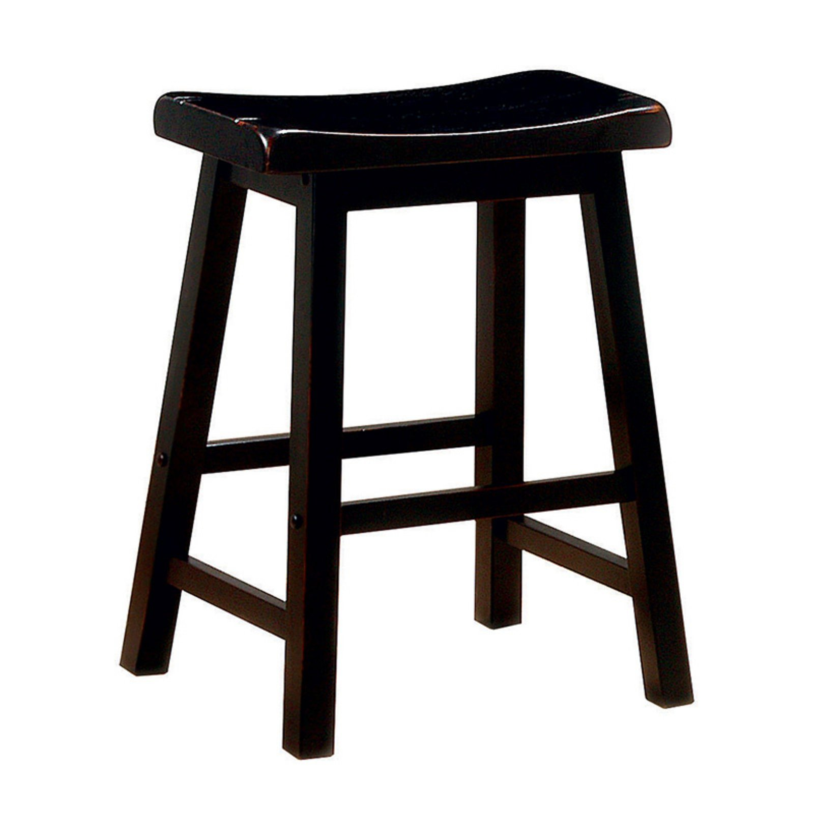 Coaster Company 24 in. Saddle Counter Height Stool, Black (Set of 2)