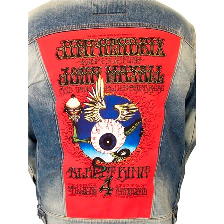 Jimi Hendrix Jacket (Dragonfly Clothing Jimi Hendrix - Mayall - King - Flying Eye Denim Jacket X)