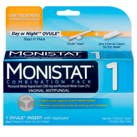 Monistat 1-Day Yeast Infection Treatment, Ovule + External Itch Cream