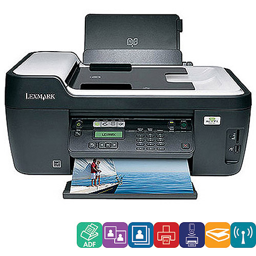 Lexmark Interpret S405 Wireless All-In-One (AIO) Printer/Copier/Fax Machine/Scanner, Refurbished