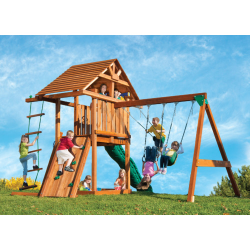 Kids Creations Kids Creation Redwood Circus 3 Swing Set