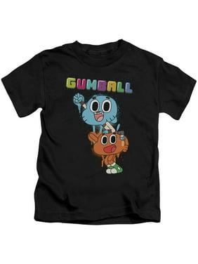 Amazing World Of Gumball - Gumball Spray - Juvenile Short Sleeve Shirt - 5/6
