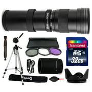 420mm-1600mm f8.3 HD Telephoto Lens Bundle for Canon Rebel T3 T2i T1i XS XSi XTi