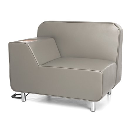 OFM Serenity Series Model 5000RE Right Arm Reception Lounge Chair with Electrical Outlet