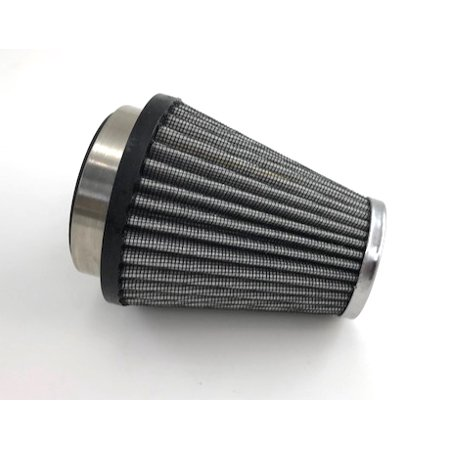 "Air Filter 3-1/2"" x 4"" x 2-1/4"" Fabric Tapered Chrome"