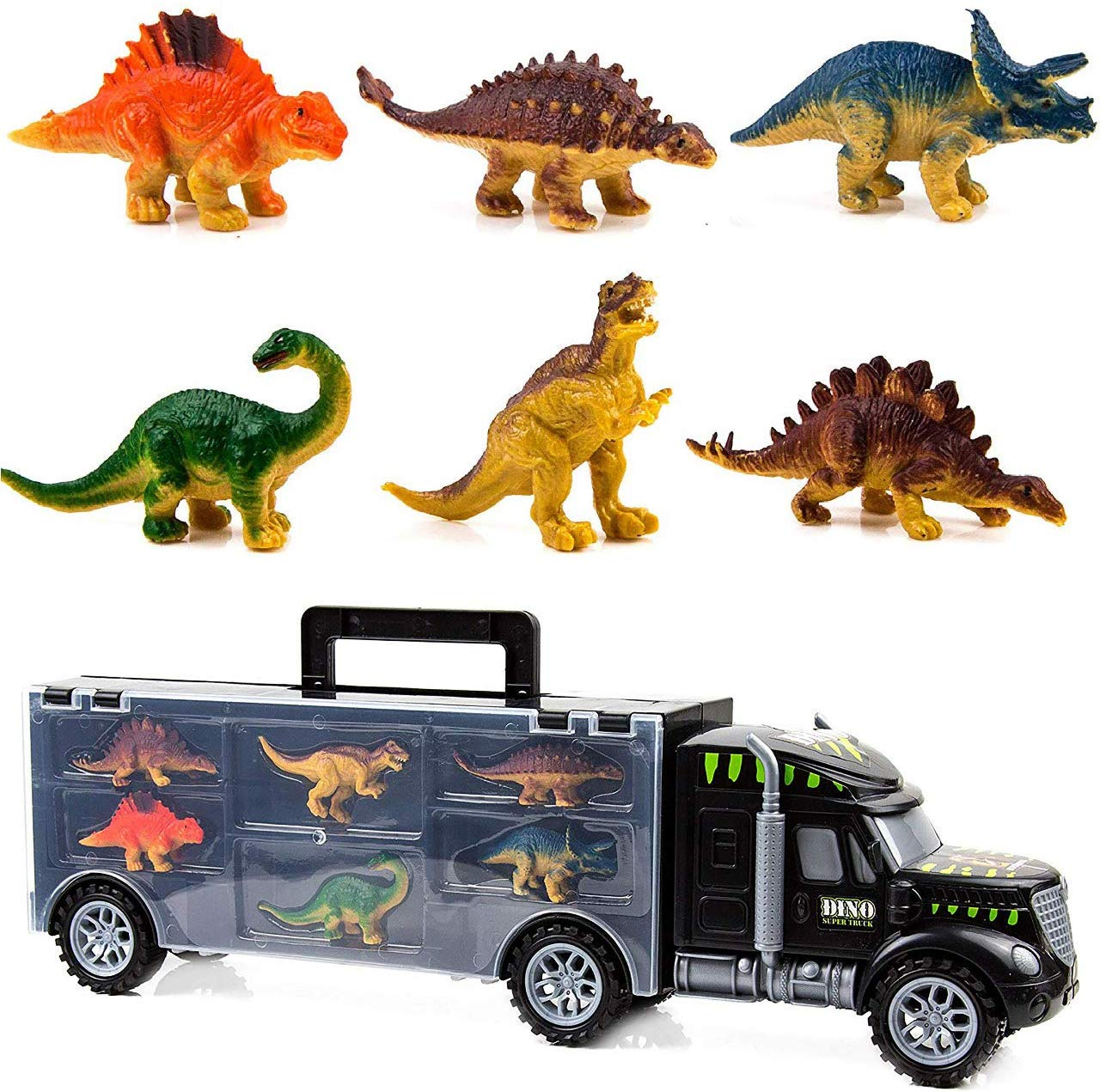 Toysery Monster Truck Dinosaur Toys Educational Kids Toys For 3 Year Old Boys And Girls 6 Pc Jurassic Park Toys For Kids Durable Transport Carrier Dinosaur Tractor Toys Set Walmart Com Walmart Com