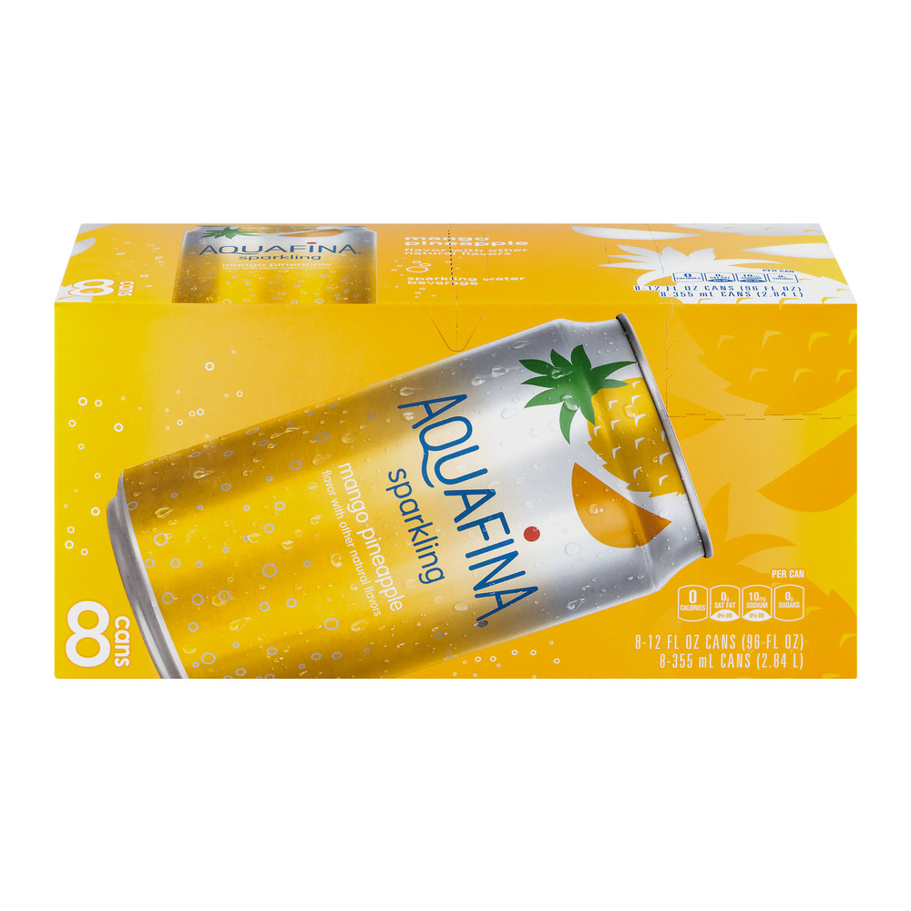 Aquafina Sparkling Water, Mango Pineapple, 8 Count, 12 fl oz Cans by Sparkling Water