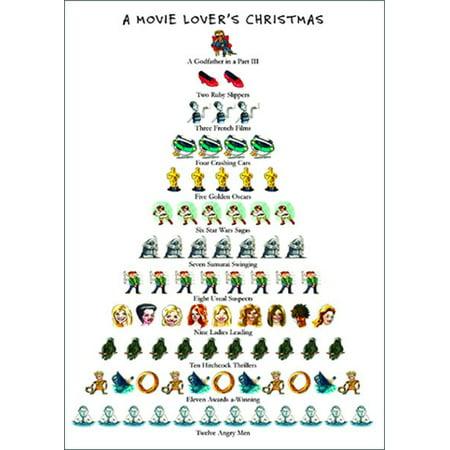 Allport Editions Movie Lover S 12 Days Of Christmas Card Walmart Com