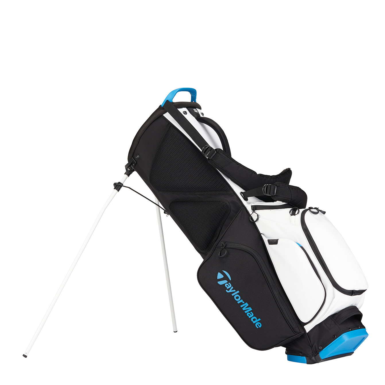 TaylorMade FlexTech Golf Stand Bag, White/Blue/Black
