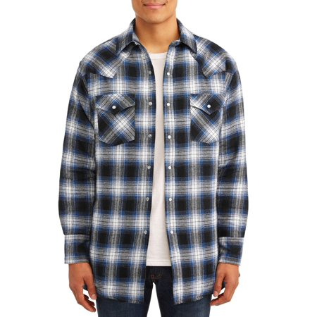 Plains Men's and Big Men's Quilted Flannel Shirtjack Carhartt Quilted Flannel