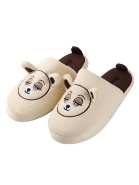 Adult's Itsy Plush Teddy Bear Cozy House Slippers for Indoors