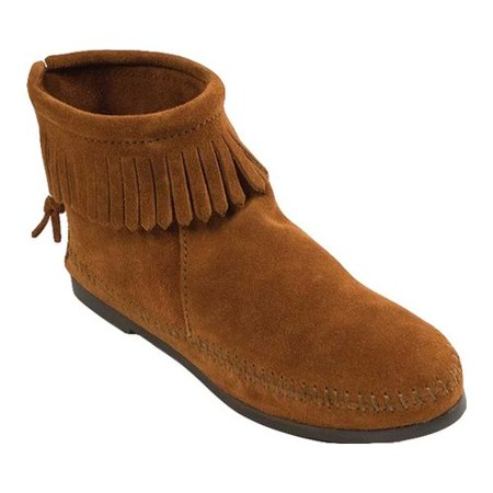 Women's Minnetonka Back Zipper Boot - Suede