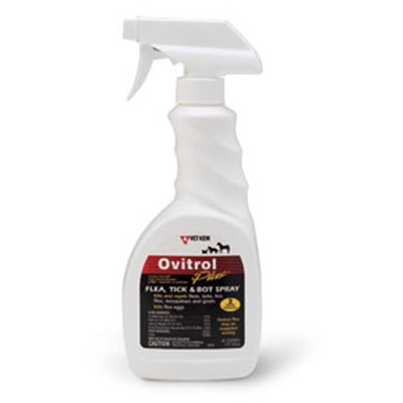 Vet Chem OVITROL Plus Flea Tick Bot Mosquitoes Lice Dog Canine 16 oz