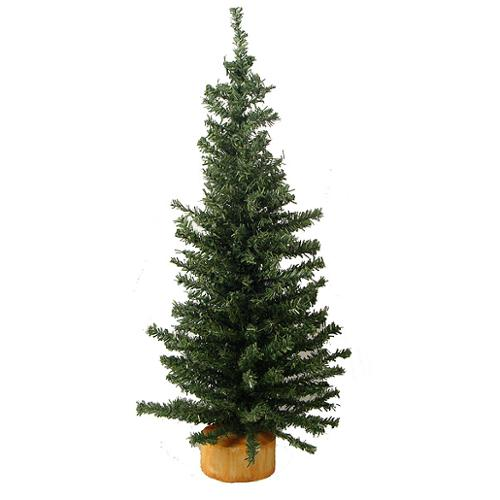"18"" Mini Pine Artificial Village Christmas Tree - Unlit"