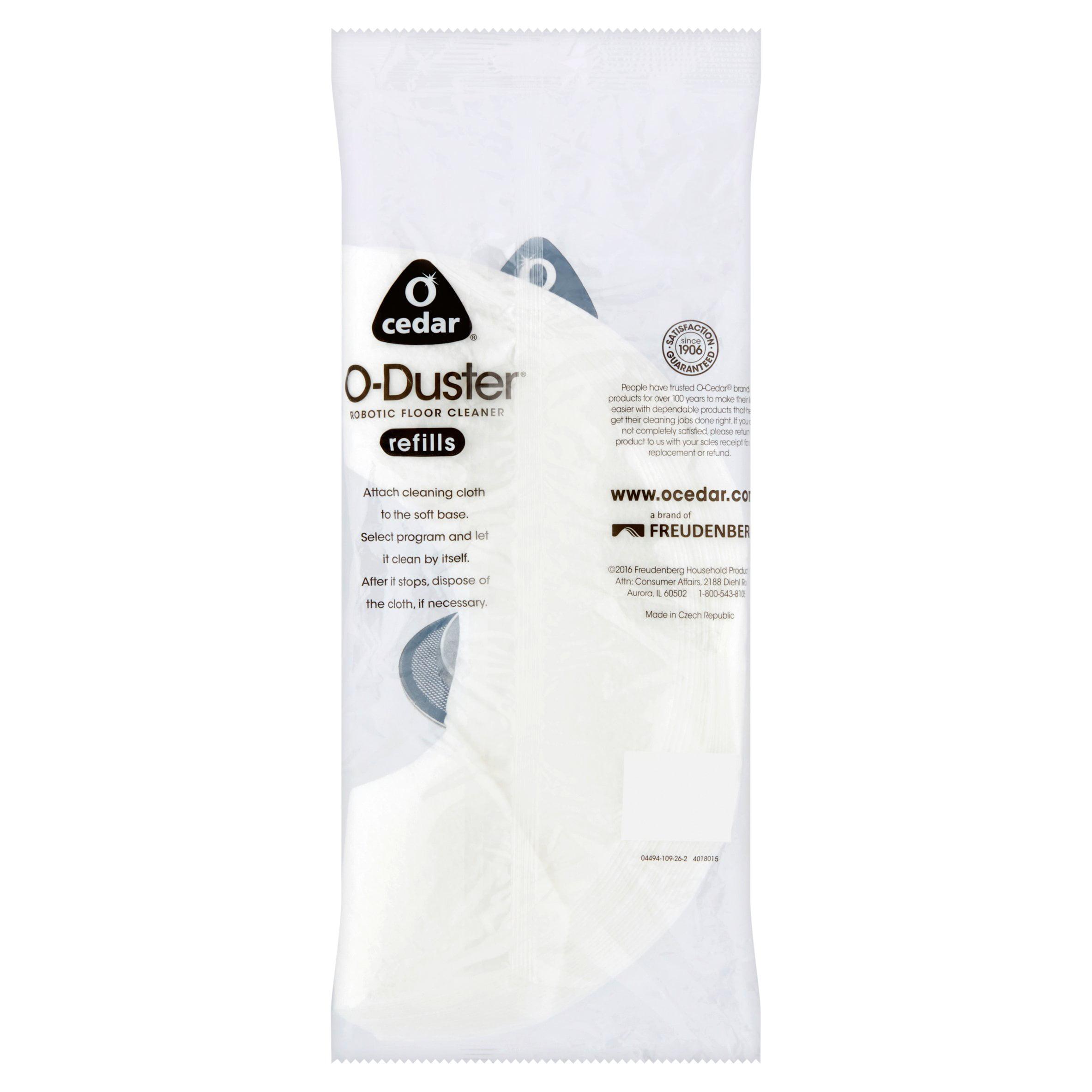 o-cedar o-duster robotic floor cleaner refills, 20 count - walmart