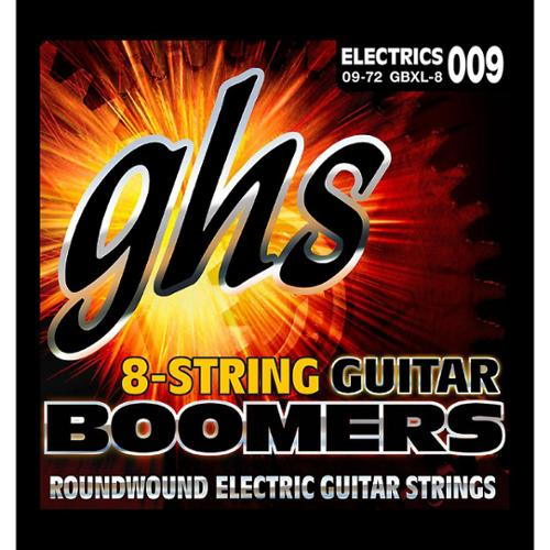 GHS Boomer 8 String Extra Light Electric Guitar Set (9-72) by GHS
