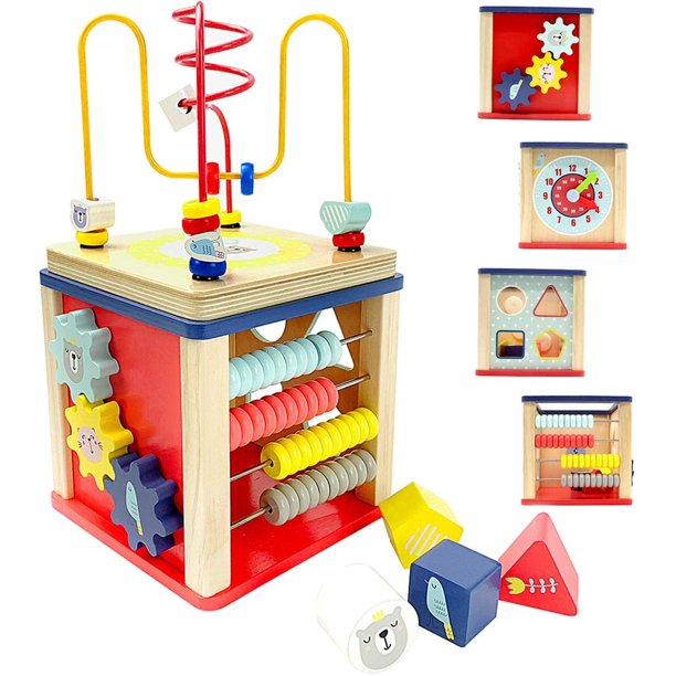 Activity Cube Wooden Toys for 1,2 Year Old Boy Gifts,12-18 ...