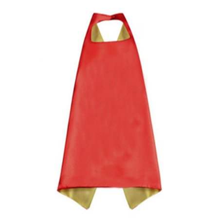 Muka Double-side Superhero Cape Dress Up Halloween Costume For Kid & Adult-Yellow/Red-43in x