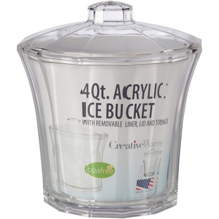 Creative Bath 4-Quart Fluted Ice Bucket with Liner