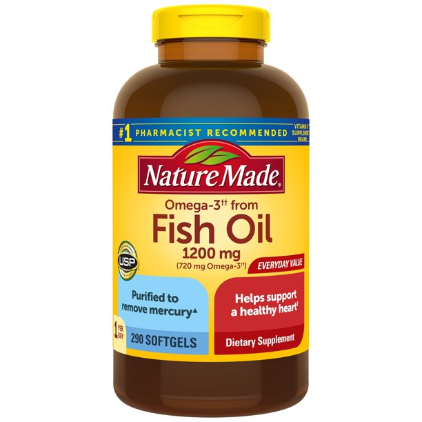 Nature Made Omega 3 From Fish Oil 720 Mg Softgels 290 Count For