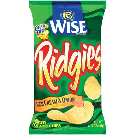 wise ridged sour cream onion potato chips oz bag. Black Bedroom Furniture Sets. Home Design Ideas