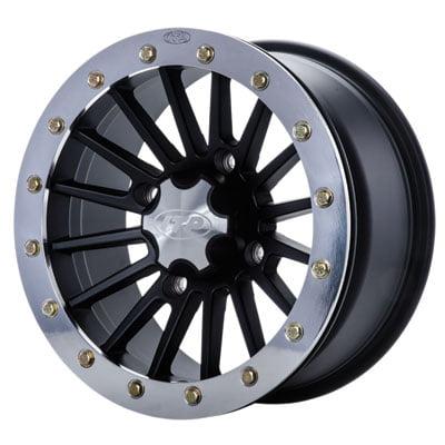 4/156 ITP SD Series Single Beadlock Wheel 14x7 4.0 + 3.0 Polished Beadring for Polaris SPORTSMAN 800 X2 4X4 EFI 2009 800 Series Single