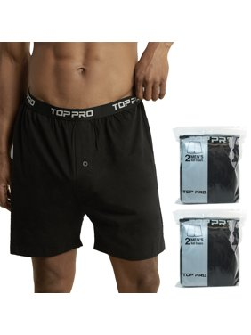 491f411cd46c Product Image 4 Mens Classic Knit Boxer Shorts 100% Cotton Underwear  Comfort Soft Black M L XL. UNIHOSIERY