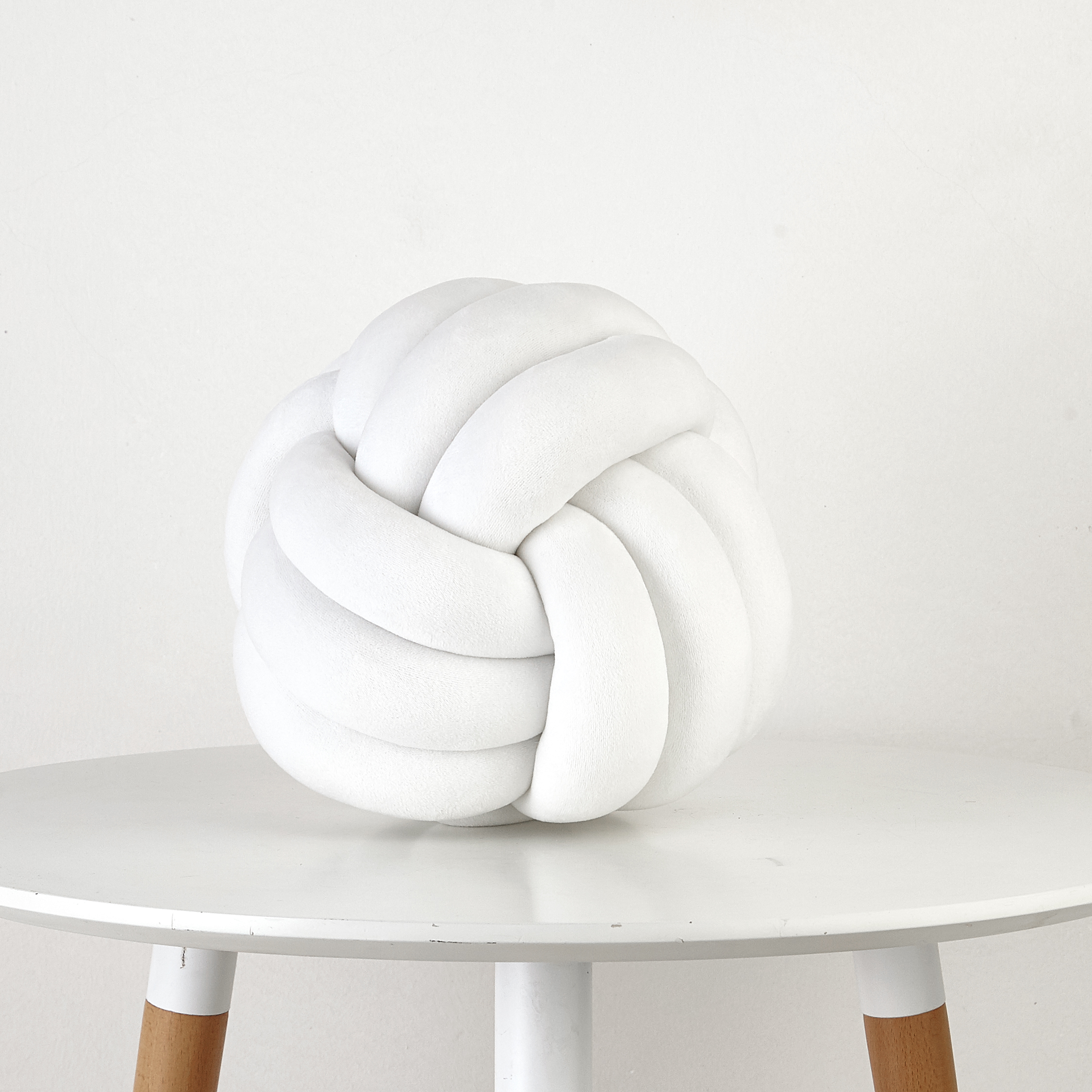Mainstays Medium Decorative Infinity Knot Pillow Ivory Multiple Colors Walmart Com Walmart Com
