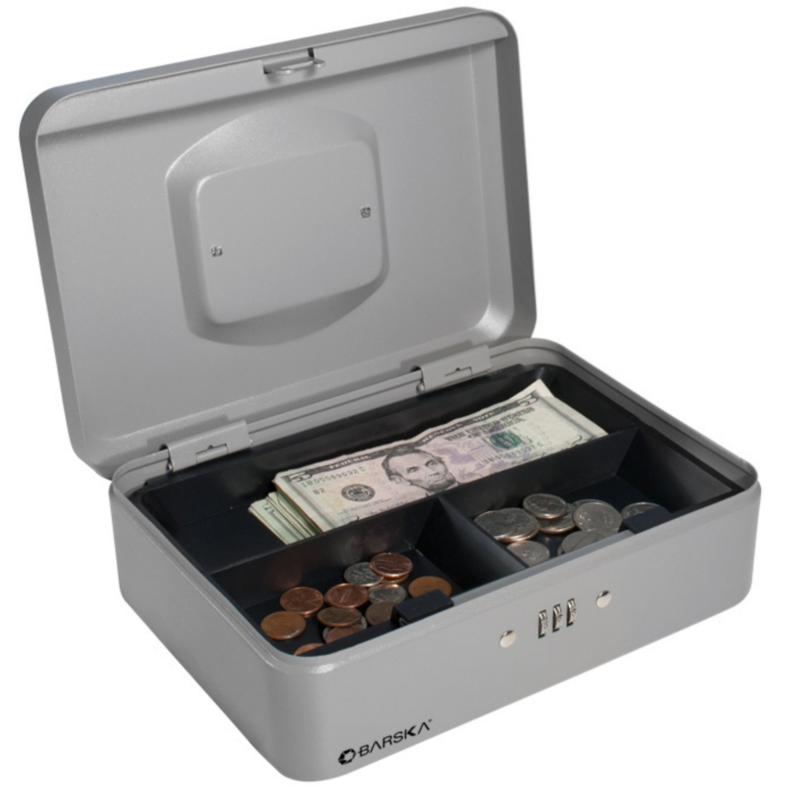 Barska 10 inch Cash Box with Combination Lock by Barska
