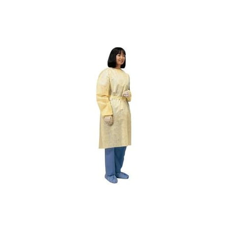 Cardinal Health Lightweight Isolation Gown with Ties XL, Yellow, Spunbonded Polypropylene Pack of (Table Of Initial Isolation And Protective Action Distances)