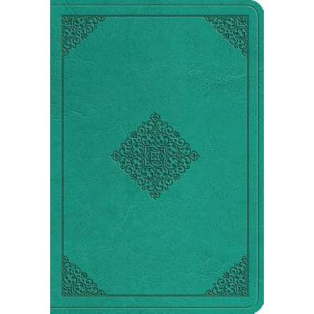 ESV Value Large Print Compact Bible (Trutone, Teal, Ornament Design) (Large Print)