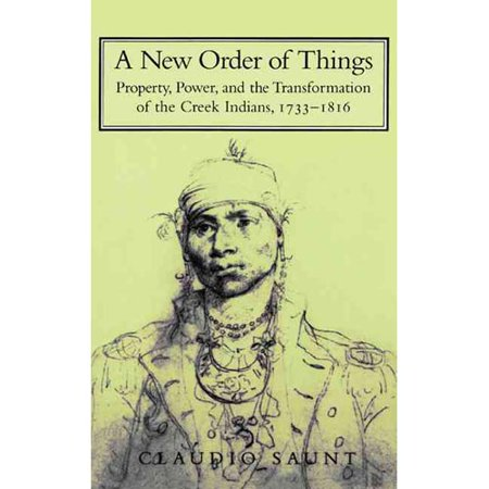 A New Order Of Things  Property  Power  And The Transformation Of The Creek Indians  1733 1816