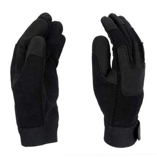 Lancer Tactical Full Finger Airsoft Army Gloves - Black - X-Large