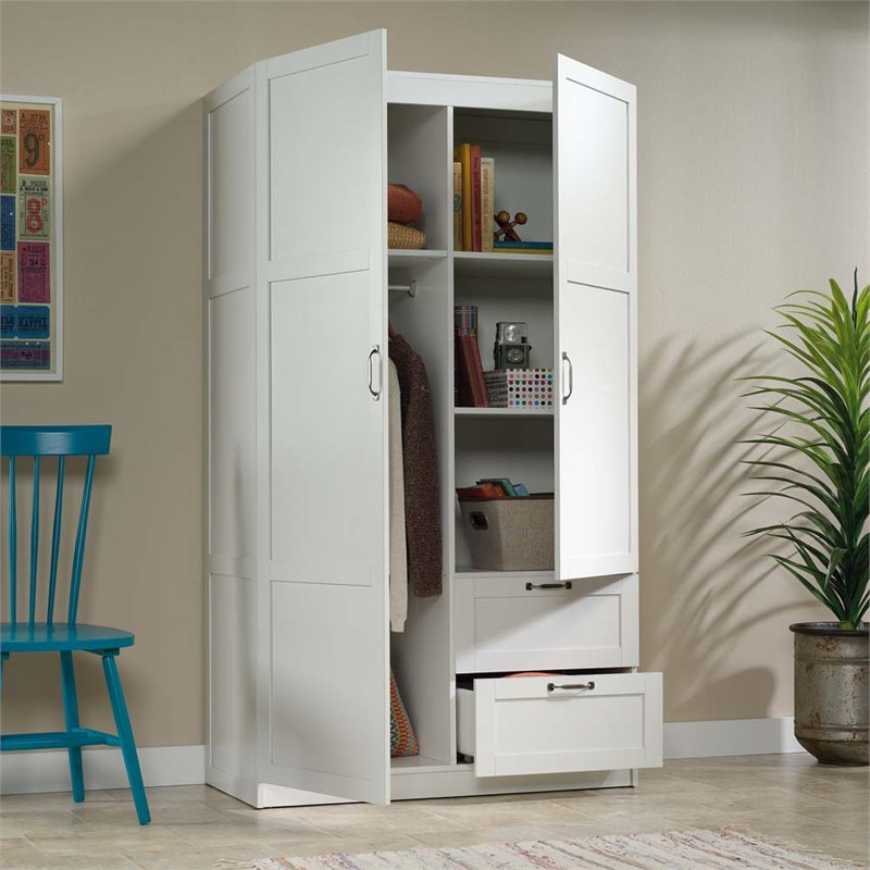 Sauder Select Wardrobe Armoire In White Image 3 Of 3