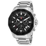 16199Sm-11-Bb Islander Chronograph Stainless Steel Black Dial Watch
