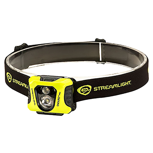 Streamlight Enduro Pro with 3 AAA alkaline Batteries/Elastic Headstrap, Yellow/Black, Boxed
