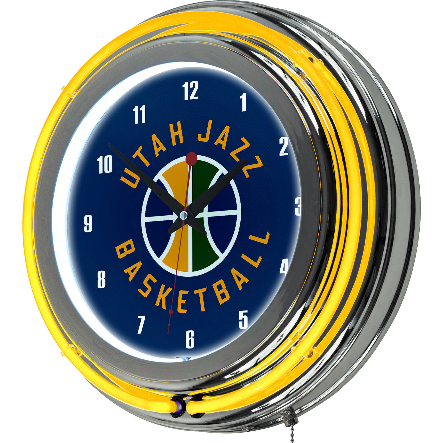 "Utah Jazz NBA 14"" Neon Wall Clock"