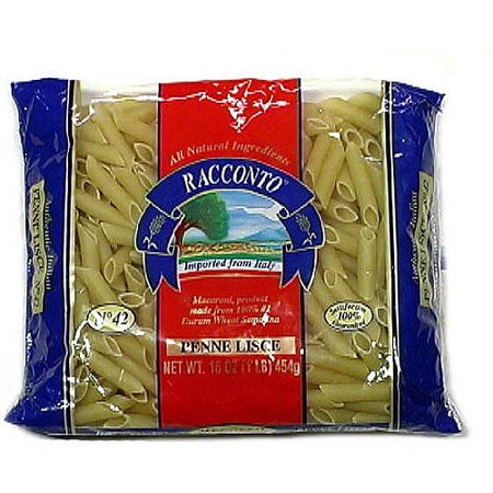 Racconto Penne Lisce Pasta, 16 oz (Pack of 20) Vegetarian Penne Pasta