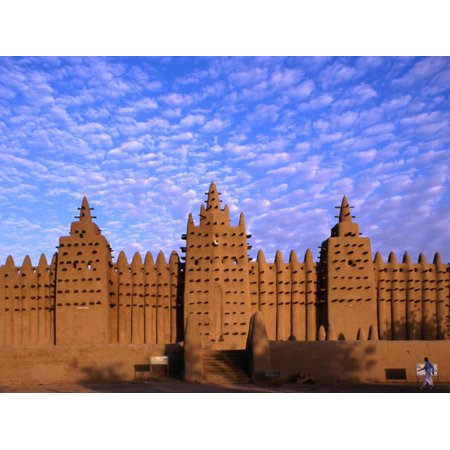 Djenne's Grand Mosque (1905) is the Largest Mud-Brick Building in the World, Djenne, Mopti, Mali Print Wall Art By Ariadne Van