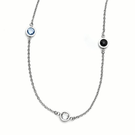 Stainless Steel Polished CZ Necklace 36.5 Inch - image 3 de 3