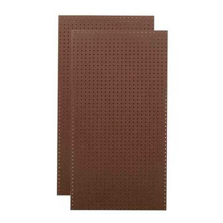 TRITON PRODUCTS TPB-2BR Pegboards,Brown,48 in. H,24 in. W,PK2 (Triton Spring Pegboard Hook)