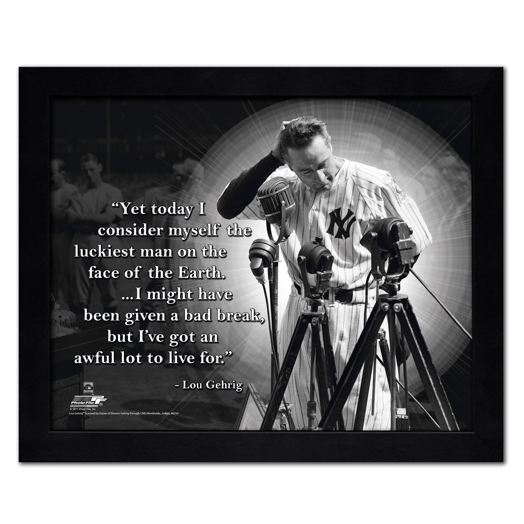 "Lou Gehrig New York Yankees 18"" x 22"" ProQuote Photo - No Size"