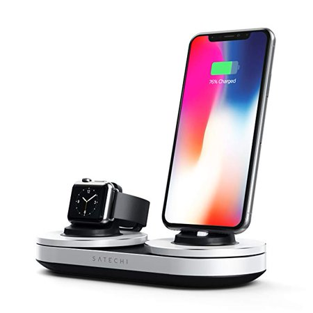Satechi Type-C Dual Charging Station Dock for iPhone X, 8 Plus, 8, 7 Plus, 7, 6 Plus, 6, 5s, 5 & Apple Watch 1, 2, 3 Series