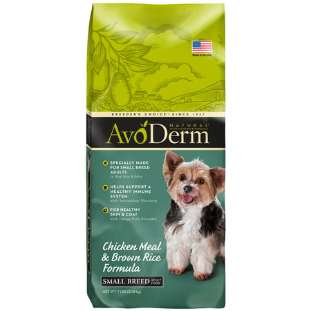 AvoDerm Natural Chicken Meal and Brown Rice Formula Small Breed Adult Dog Food, (Avoderm Natural Chicken Meal & Brown Rice)