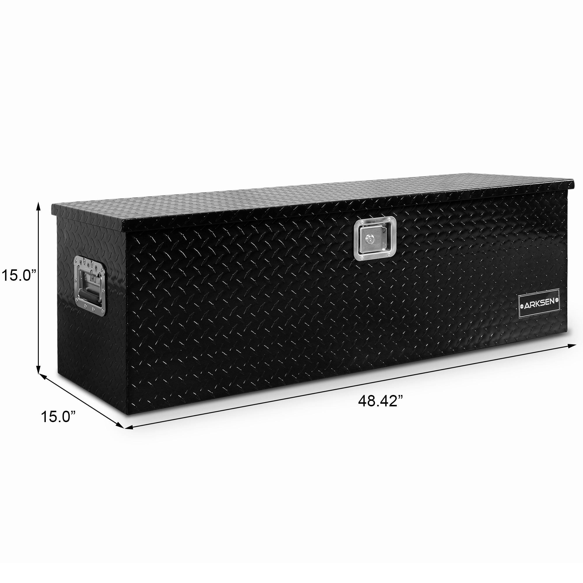 "Aluminum Truck Tool Box for Garage Pickup Trailer RV Storage 49/"" x 15/"" x 15/"""