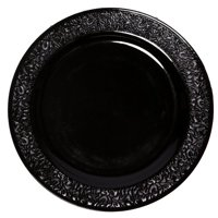 Party Joy Lace Premium Heavyweight Disposable Plastic Plate (Set of 50)