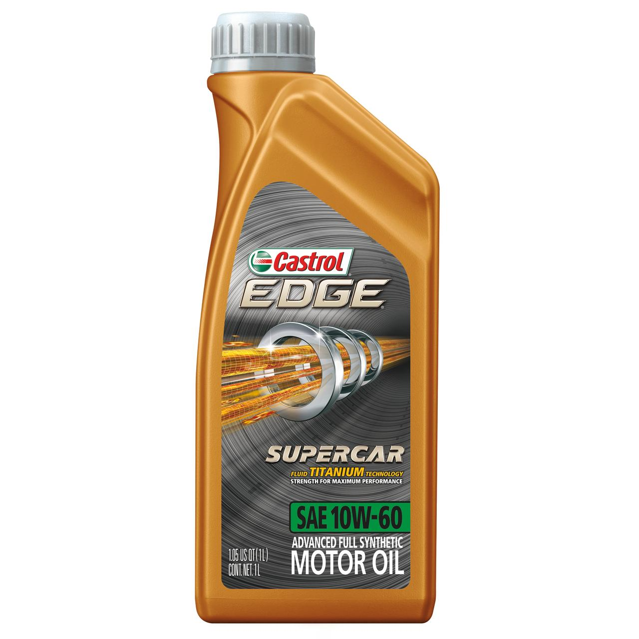Castrol EDGE SUPERCAR 10W-60 Advanced Full Synthetic Motor Oil, 1 L